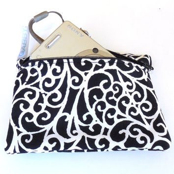 Camera Bag, White Swirls, padded, womens accessory, handmade