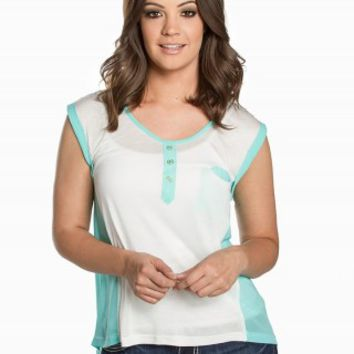 MINE COLORBLOCK HENLEY TOP
