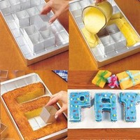 Easygoby ANY ALPHABET LETTERS NUMBER CAKE TIN PAN CREATE DECORATING FONDANT BAKING MOLD