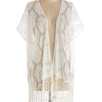 ModCloth Boho Long Short Sleeves One Fine Filigree Jacket