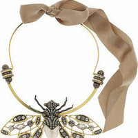 Lanvin|Swarovski crystal insect necklace|NET-A-PORTER.COM
