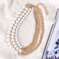 Modern Romance Pearl Statement Necklace