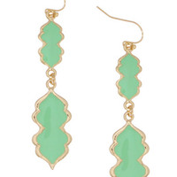 Mint Magic Lamp Earrings