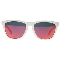 The Oakley Frogskin Sunglasses in Polished White and Ruby Iridium