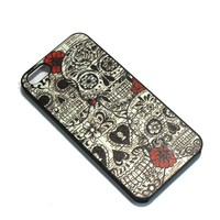 S9Y Retro Sugar Skull Vintage Hard Case Back Cover Protector Skin For iPhone 5C & With a Nice Gift (SL-D)