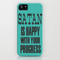 SATAN IS HAPPY. iPhone & iPod Case by EATBEAST