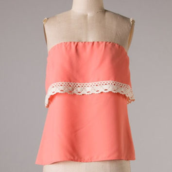 Yacht Club Top: Salmon - Shoreline Boutique