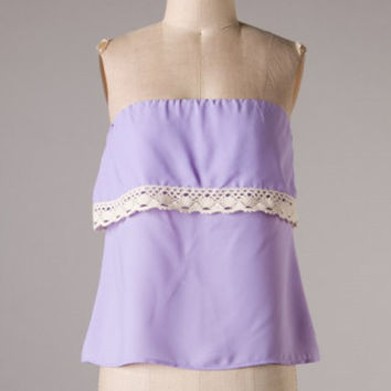 Yacht Club Top: Lilac - Shoreline Boutique