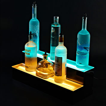 Illuminate 2 Tier LED Bar Shelf