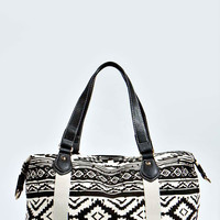 Jamie Aztec Print Canvas Beach Bag