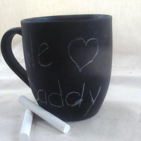Teacher Father Dad Coffee Mug Cup Chalk Board Message by earthluv