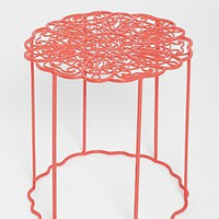 Plum & Bow Floral Garden Side Table-