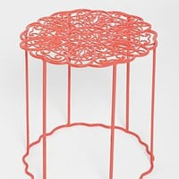Plum & Bow Floral Garden Side Table - Urban Outfitters