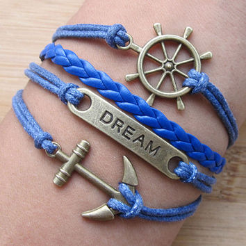 Dream of the bracelet, anchor bracelet - Antique silver bracelet - Christmas gift - the best choice for gifts