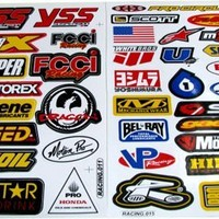 Racing Gear Decal Sticker Mx Motocross Dirt Bike ATV 2 Sheets #R203