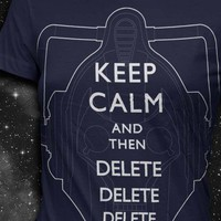 KEEP CALM and then DELETE Womens Tshirt by vortextradingcompany
