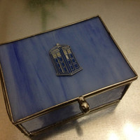 Doctor Who TARDIS Sea Glass Trinket Box by urbanindustries on Etsy