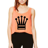 Justin Bieber Crown Cropped Tank Top