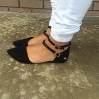 Black Diane Pointed Sandals