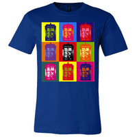 Doctor Who TARDIS Warhol Style Shirt Men&#x27;s Women&#x27;s &amp; by Geekcetera