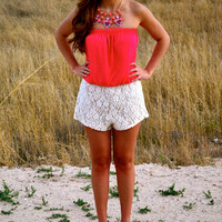 Simply Chic Lace Romper