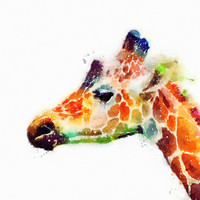 The Graceful - Giraffe Art Print by Jacqueline Maldonado | Society6