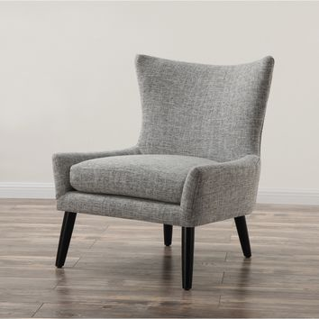 Sullivan Grey Linen Upholstered Chair