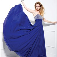 2014 Prom Dresses - Royal Blue Sequin Sweetheart Strapless Long Dress