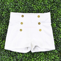 Portsmouth White Sailor Shorts