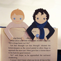 Sherlock & John Bookmark set by bethydesigns on Etsy