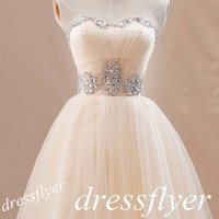 Beads Sweetheart Short Prom Dress, Custom A Line Knee-length Prom Dress Homecoming Dress Cocktail Dress Short Ball Gown