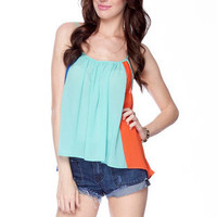Color Chief Tank Top in Blue :: tobi