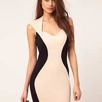 Lipsy | Lipsy Hour Glass Panel Dress at ASOS