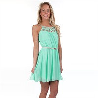 Sequin Hearts Juniors Caged Front Chiffon Dress at Von Maur