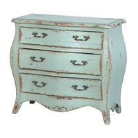 Aqua Marine 3 Drawer Bombe Chest | Sweetpea & Willow