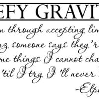 Wicked Wall Decal elphaba defy gravity by bushcreative on Etsy