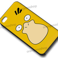 Psyduck Face Pokemon case for iphone 4/4S, iphone 5/5C, samsung galaxy s3, samsung galaxy s4, ipod 4 and ipod 5