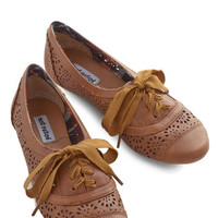 ModCloth Menswear Inspired Jazz on the Patio Flat in Brown