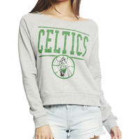 Celtics Crop Swearshirt | Wet Seal