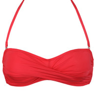 Twist Bandeau Top in Red