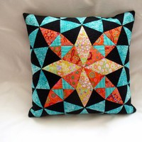 patchwork pillow | Maposka - Housewares on ArtFire
