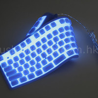 Flexible Illuminated Full Sized Keyboard