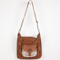 T-Shirt & Jeans Crochet Pocket Crossbody Bag Cognac One Size For Women 23645340901