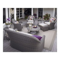 Summerlin Ottoman with Sunbrella- Stone Cushion