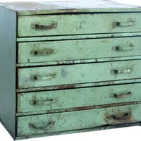 Metal Cabinet III - One Kings Lane - Vintage & Market Finds - Furniture