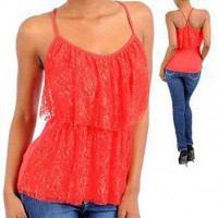 LACE TIER TANK TOP-Dressy-Womens Dressy Tops,Dressy Top For Women,Fashion Dressy Tops,Trendy Dressy Tops,Promo Dressy Tops