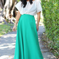 Emerald Dreams Wrap Maxi Skirt