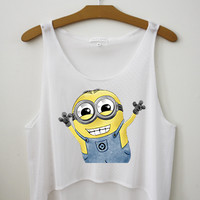 Minion Crop Top - Hipster Tops