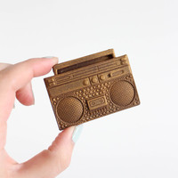 3 Mini Boombox Chocolates:  Amber Gold