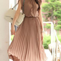 light brown chiffon drape maxi dress | summerbaby | ASOS Marketplace